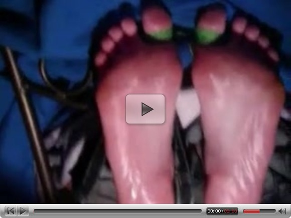 Faustian Demon has ticklish LL toes tied